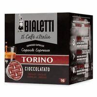 64 CAPSULE ALLUMINIO BIALETTI I CAFFE' D'ITALIA MOKESPRESSO TORINO ORIGINALI