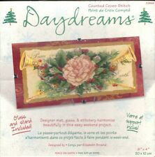 New ListingCross Stitch Kit Classic Peace on Earth Christmas Decoration with Glass & Stand