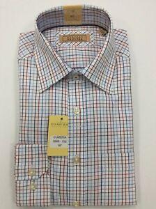Gurteen Mens Tattersall red check shirt,100% cotton many sizes £21.95 RRP £45.00