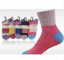 5 Paar Frauen Wolle Kaschmir Dicke Warm Soft Solid Lässige Sport Socken Winter