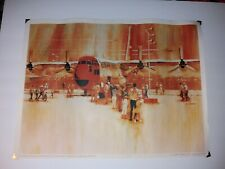 1960s Armed Forces Day Edwards Afb Poster Painted by George Akimoto 15x20""