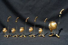 Set Of 6 West German Hand Made & Painted Absinthe Sipping Glasses