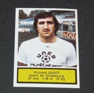 #278 GUIOT RC STRASBOURG MEINAU AGEDUCATIFS FOOTBALL 1975-1976 PANINI 75-76
