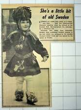 1953 Three-year-old Elizabeth Ljunborg Sodertalje Sweden Traditional Costume