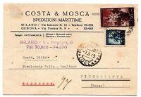 1949 REPUBBLICA ESPRESSO DEMOCRATICA LIRE 50 + 5 SU CARTOLINA PUBBLICITARIA