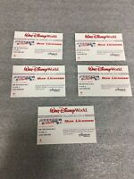 5 Walt Disney World Transportation Bus License Honorary Bus Driver Card