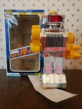 80's Vintage Yonezawa Japan New Patrol Laughing Chrome Robot