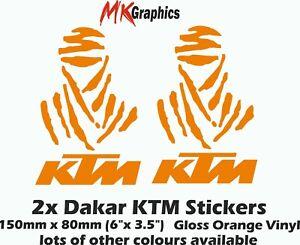"KTM Dakar Rally Stickers 2x6"" Orange Vinyl Adventure S 1190 1290 R Raid Offroad"