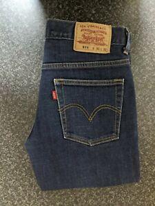 Men's Levi's 511 Indigo Blue Slim Fit Stretch Denim Jeans Size: W30 L32