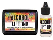 """Ranger Tim Holtz """"ALCOHOL LIFT-INK"""" Stamp Pad + 1 Re-Inker Bottle BUNDLE Set"""