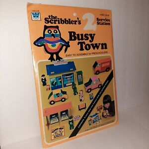 The Scribbler's Busy Town: PET SHOP  Set #2 Easy to Assemble Punch-Out Play Set