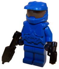 **NEW** LEGO Custom - BLUE HALO SPARTAN - Master Chief Xbox Game Minifigure