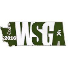 2016 WSGA Geocoin - Antique Silver - Unactivated