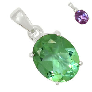 Colorchange Alexandrite (Lab.) 925 Sterling Silver Pendant Jewelry BP89739