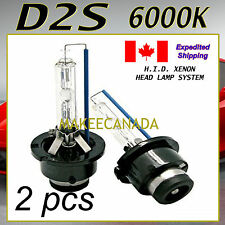 2X D2S HID XENON 6000K HEADLIGHT BULBS BMW E38 E39 E46 E65 E66 M3 M5 X3 X5 WHITE