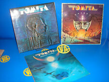 Batch of 3 LPs vinyl TOMITA -notes photos SHORTS TRIANGLE-KOSMOS and more