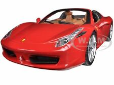 FERRARI 458 ITALIA SPIDER RED 1/24 DIECAST MODEL CAR HOTWHEELS BLY64
