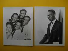 4 x Nat King Cole Platters Russ Hamilton Jimmie Rodgers 1950s Music Trade Cards