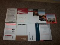2009 Toyota Tacoma Owner User Guide Manual PreRunner X-Runner 2.7L 4 Cyl 4.0L V6