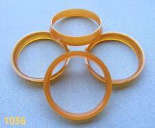 (1056) 4 Stück  Zentrierringe 56,6 / 54,1 mm orange für Alufelgen