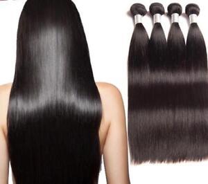 TOP PREMIUM 100% REAL WEFT/ WEAVE HUMAN HAIR EXTENSIONS100g PER PACK UK SELLER