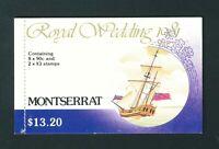 Montserrat 1981 Royal Wedding Stamp Booklet. Mint. MNH