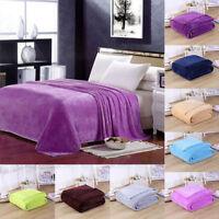 New Super Soft Warm Micro Plush Fleece Blanket Throw Rug Sofa Bedding 100*140cm