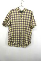 Ralph Lauren Mens Yellow Button Down Plaid Shirt Cotton Blake Fit Size XL