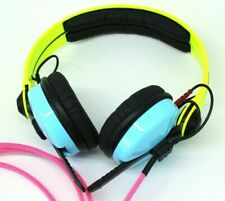 Custom Cans UV Yellow, Blue and Pink Sennheiser HD25 Headphones 2yr warranty