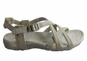 Merrell Womens Terran Ari Lattice Womens Comfortable Flat Sandals - Leather