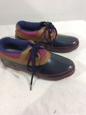 Active Elements Thermolite Lace Up Ankle Duck Boots Shoes Blue and Maroon Size 6