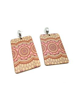 Bohemian Long Wooden Earrings  / Ladies Wooden Earrings / Ladies Wooden Gift