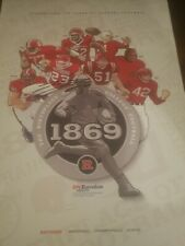 brian leonard signed poster autographed rutgers 150 football spring game auto