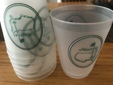 Official Masters Golf Plastic Drink Cup Undated  ****SET OF 8****