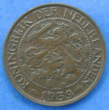 Nederland - The Netherlands 1 cent 1939 KM# 152