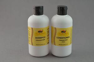 Capelli Tinti Shampoo & Balsamo Set Con Olio dDi Emù Naturale e NON IRRITANTE