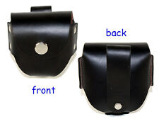 Belt Holster for Snuff/Tobacco Chew - Black Leather (SA-502)