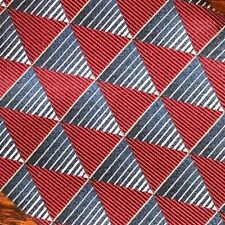 "XMI Nordstrom Hand Sewn Mens Tie 3.75"" x 58""  Red Blue Geometric"