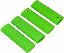 New listing Heat Resistant Star Pattern Silicone Pan Handle Pot Holders - Set Of 4 Green