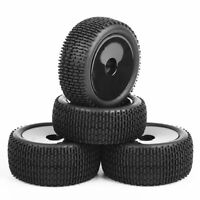 RC 4Pcs Front Rear 1:10 Buggy Tires&Wheel 12mm Hex for HSP Off-Road Car 26&13