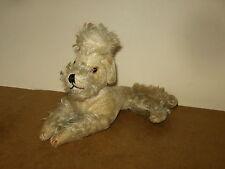 Ancienne peluche chien CANICHE - vintage stuffed POODLE dog