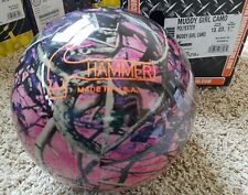 Hammer MUDDY GIRL Pink Camo 15 Pound  NIB Bowling Ball Undrilled *RARE*