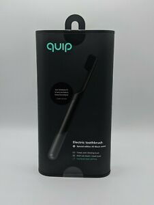QUIP Sonic Electric Toothbrush Special All BLACK METAL - NEW FIRST REFILL FREE