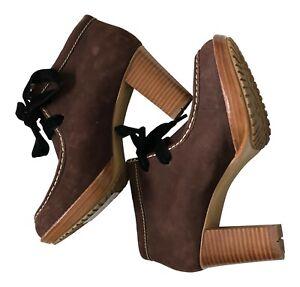 "Paul Smith  ""Selita"" Brown nubuck leather Boots Size  UK4 EU37"