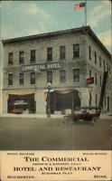 Rochester MN Commercial Hotel & Restaurant Old Car c1910 Postcard