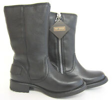 Harley Davidson Baisley Ladies Black Biker Boots wide Fitting (R99)