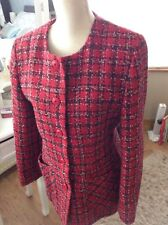Debenhams red  tartan long sleeved jacket size 14