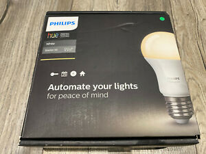 Philips Hue Warm White A19 Dimmable LED Smart Bulb Starter Kit With Hub 2 Bulbs