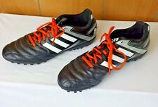 Adidas Mens Indoor Classic Soccer Shoes Cleats Size 8 Black White Orange