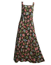 OILILY Women's UK 10 36 Maxi Wrap Dress Festival Pinafore Floral Rayon Gown Boh